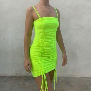 Neon Green Mini Dress-Small